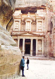 Ancient ruins of Petra, Jordan